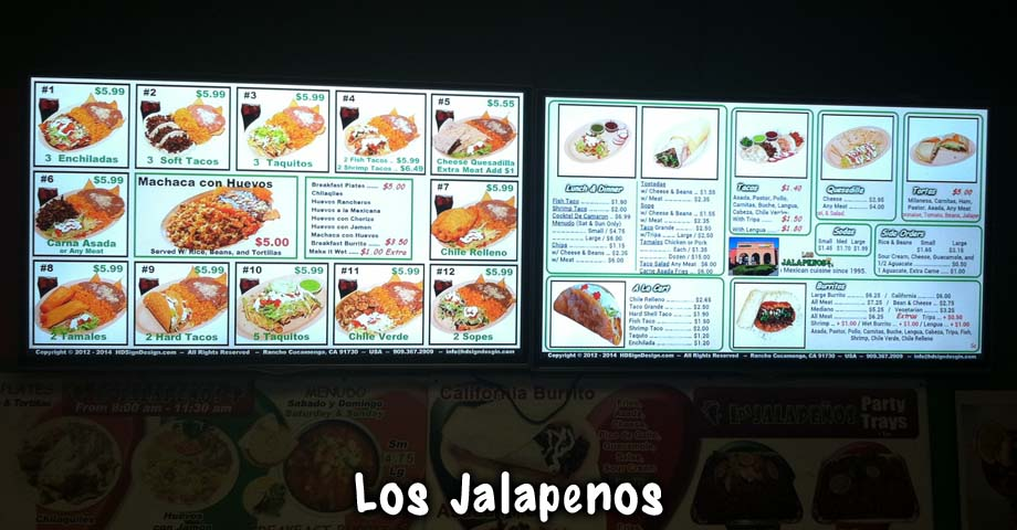 HD Sign Design digital menu in restaurants